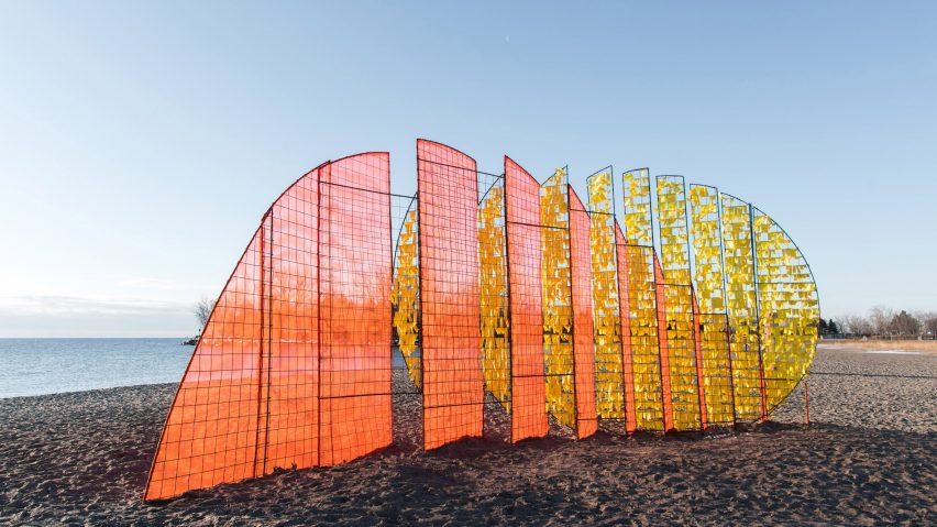 Interactive installations built on Toronto beach for city's annual Winter Stations
