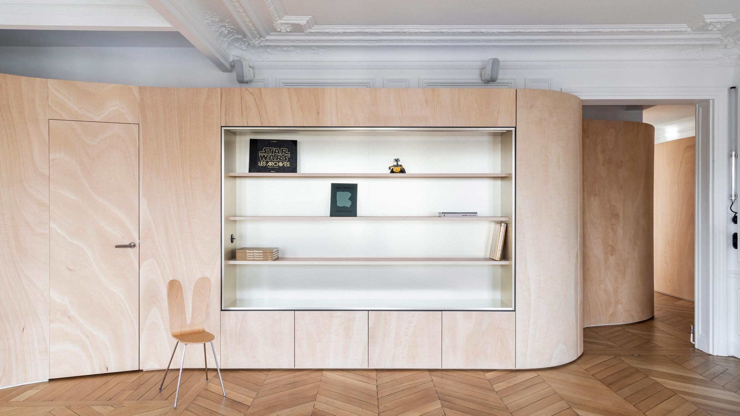 Wood Ribbon aparment by Toledano + Architects