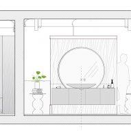 Wood Ribbon apartment by Toledano + Architects
