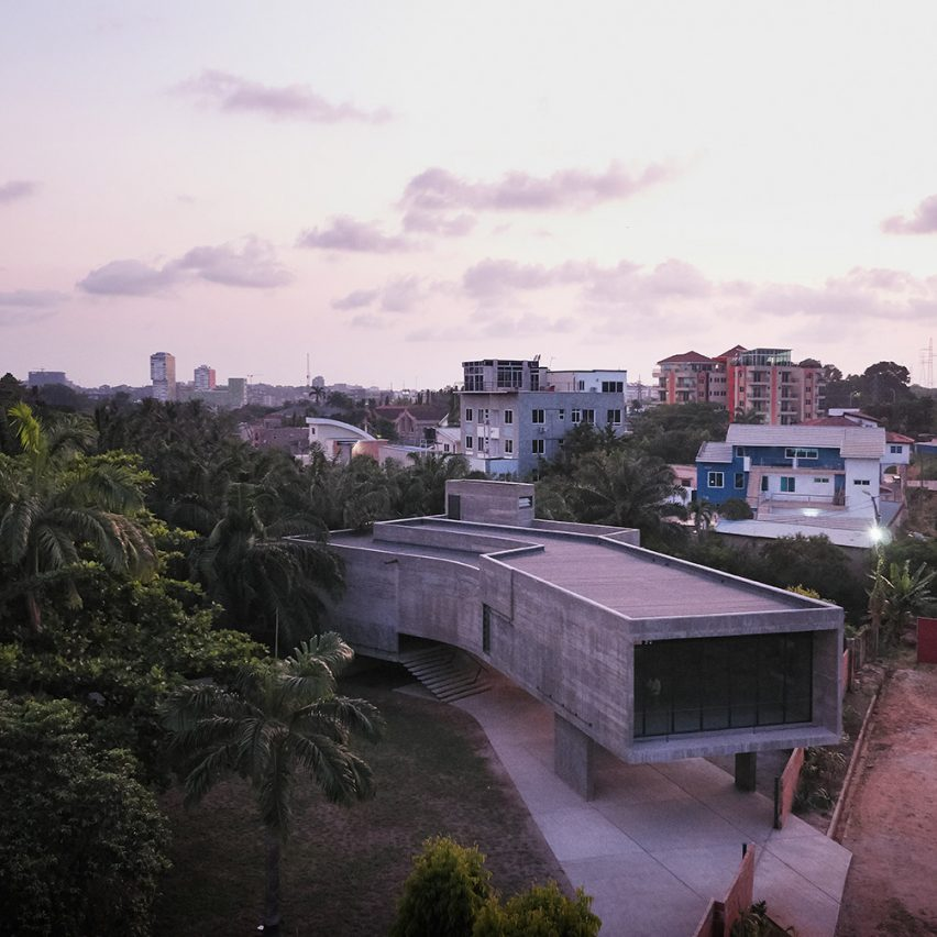 Baerbel Mueller and Juergen Strohmayer create concrete gallery in Accra
