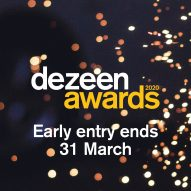One day left to save 20 per cent on your Dezeen Awards 2020 entry
