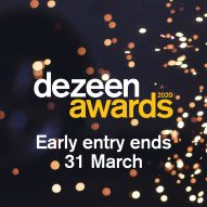 Two weeks left to save 20 per cent on Dezeen Awards 2020 entry fees