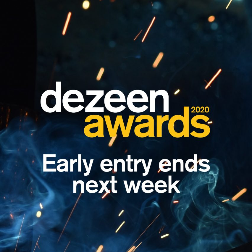 One week left to save 20 per cent on Dezeen Awards entries