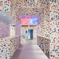 Ace & Tate uses colourful terrazzo made from local plastic waste throughout Antwerp store