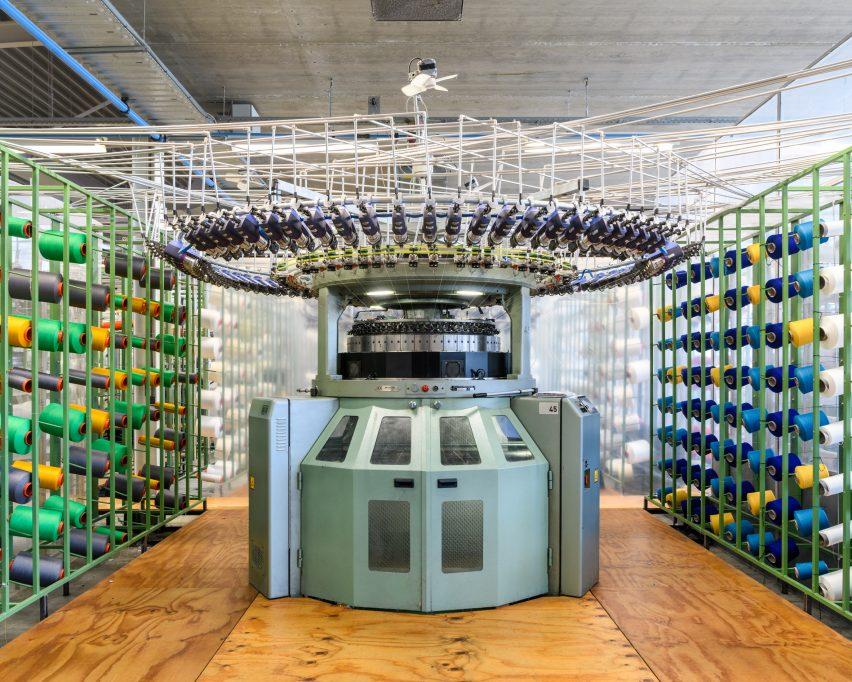 Alastair Philip Wiper, Circular knitting machine at Kvadrat Febrik 's Innofa textile mill, Netherlands