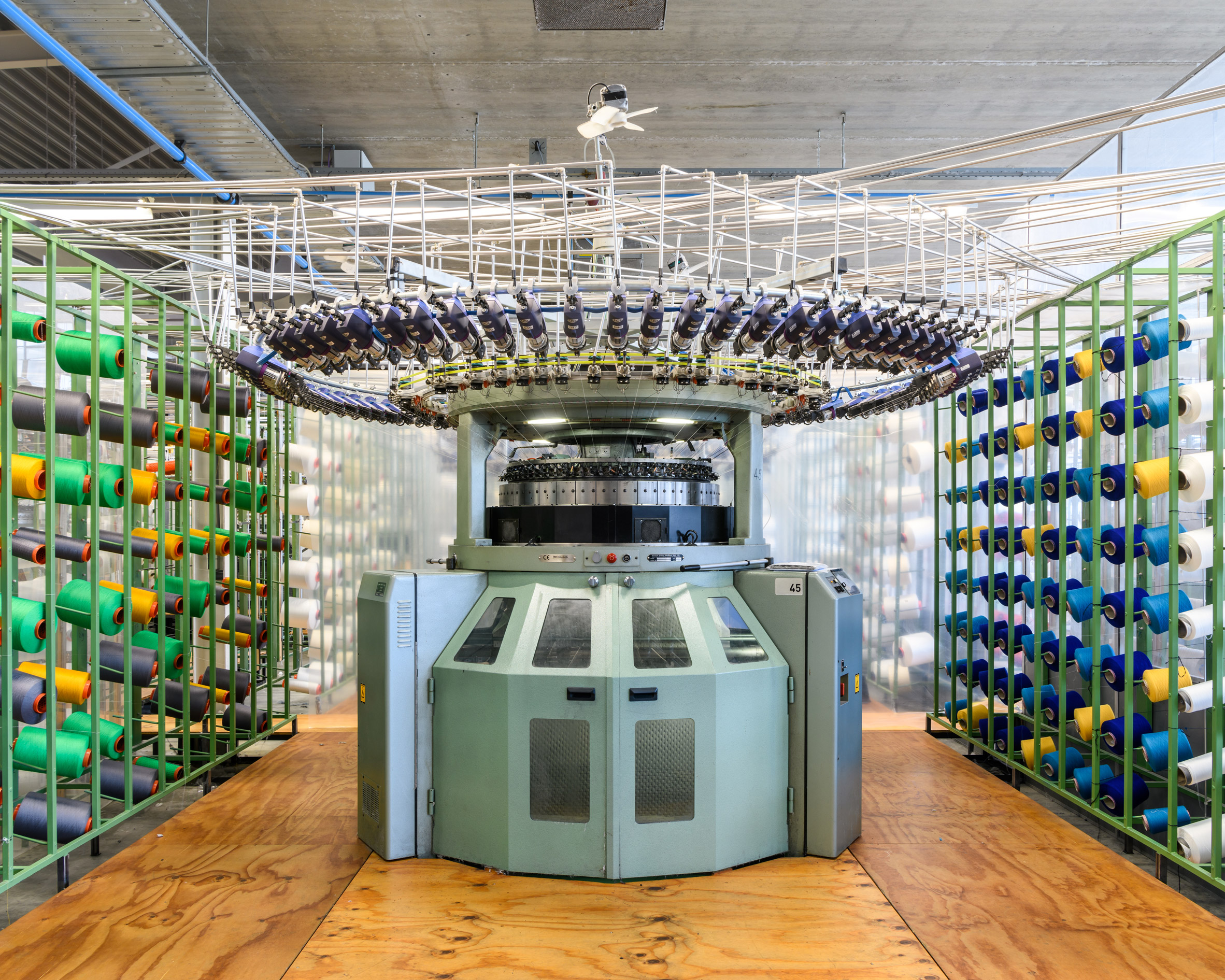 Alastair Philip Wiper, Circular knitting machine at Kvadrat Febrik 's Innofa textile mill, Netherlands