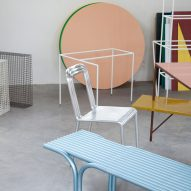 Muller Van Severen construct furniture series from rows of aluminium tubes