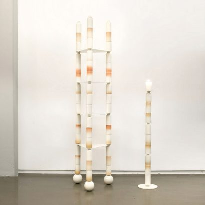 Anastasia Tikhomirova stacks ceramics for fragile furniture and lighting