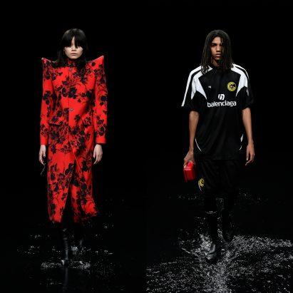 Balenciaga floods runway for apocalyptic Paris Fashion Week show