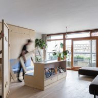 Barbican Dancer's Studio by Intervention Architecture reconfigurable space