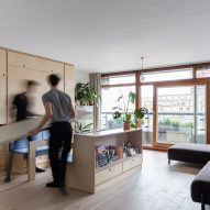 Barbican Dancer's Studio by Intervention Architecture dining table