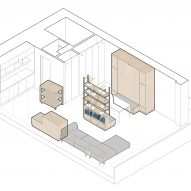 Barbican Dancer's Studio by Intervention Architecture axonometric diagram