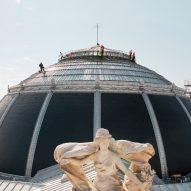 Photos reveal work underway at Tadao Ando's Bourse de Commerce