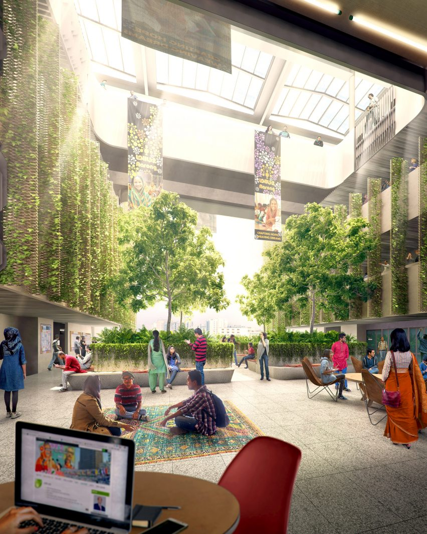 BRAC University Campus by WOHA for Dhaka, Bangladesh