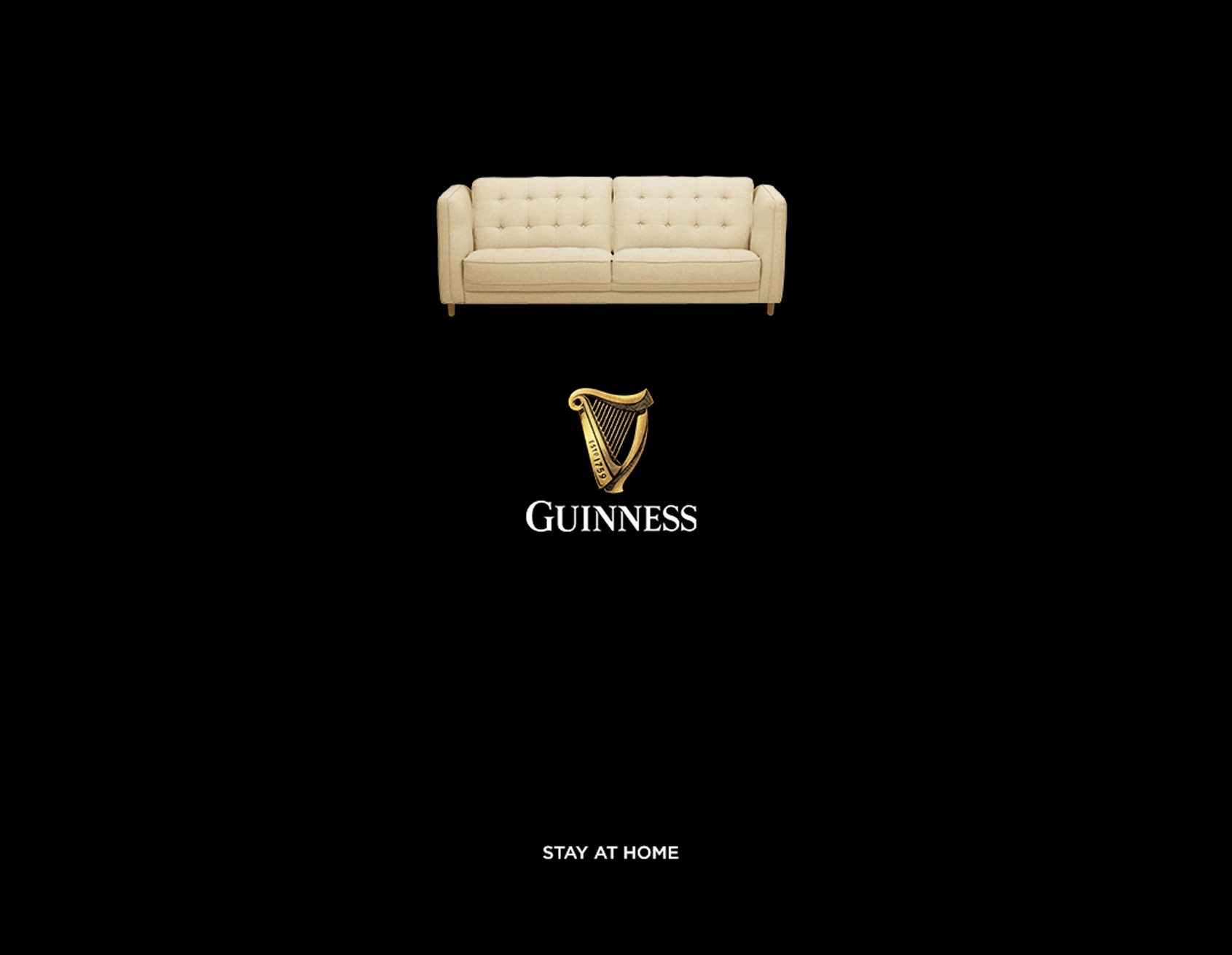 Social Distancing And Staying Home Encouraged By Ikea And Guinness