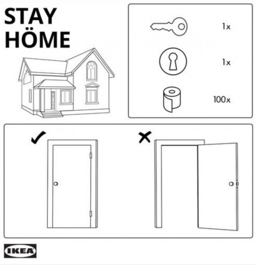 IKEA stay at home advert