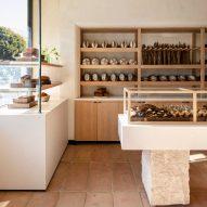 Commune designs gluten-free BreadBlok bakery in California with creamy interiors