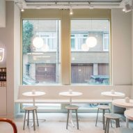 Buddy Buddy cafe in Brussels, designed by HOP