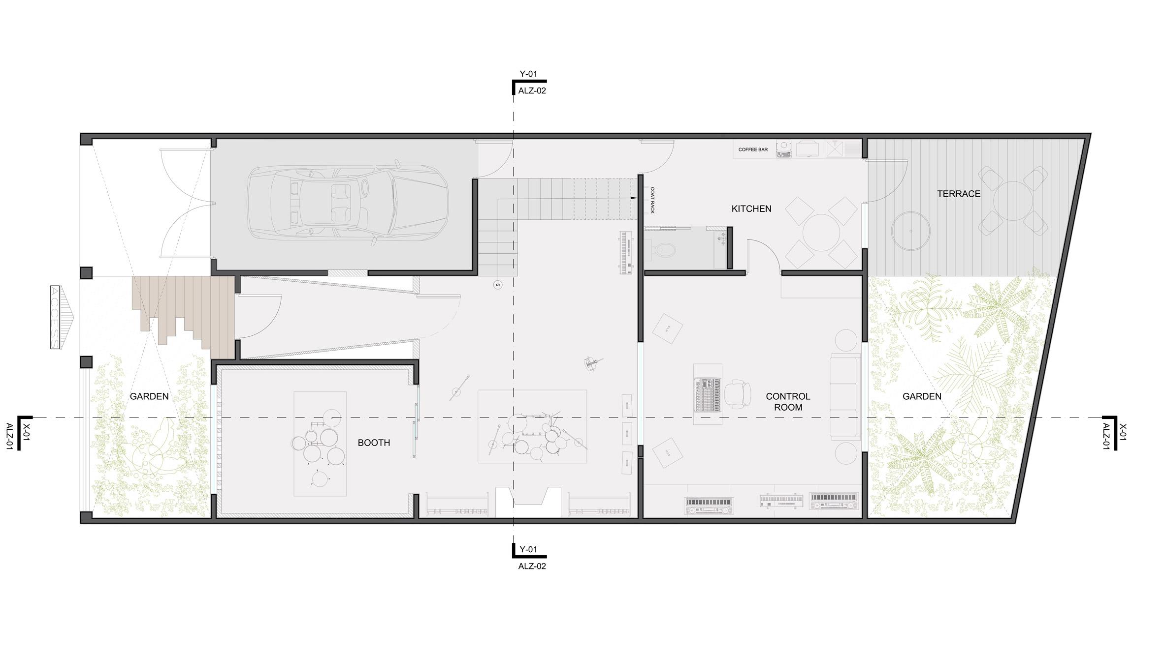 Goko Converts 1920s House In Mexico City Into Recording Studio