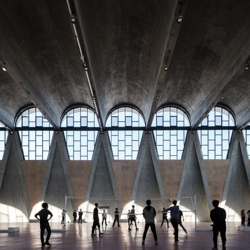 Gymnasium of New Campus of Tianjin University by Atelier Li Xing from Chinese Brutalism Todaygang