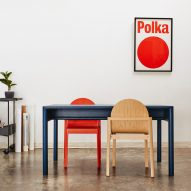 """Stine Aas designs stackable wooden chair Cleo """"reminiscent of classical architecture"""""""