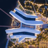 Cluster of hull-like roofs form The National Maritime Museum of China