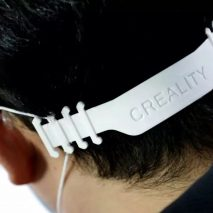 3D-printed face mask buckle by Creality