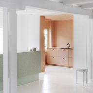 Pink-tinted kitchen appears in Copenhagen's Designers Remix showroom