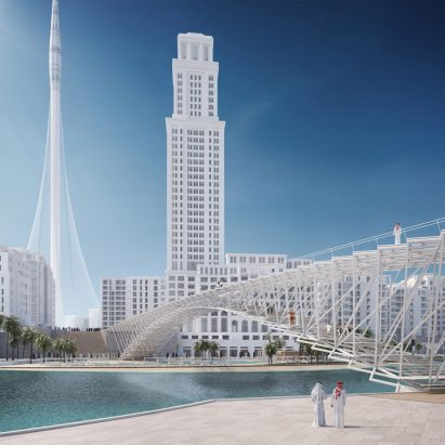 Dubai Creek Footbridge by IJP Architects and AKT II in Dubai, UAE