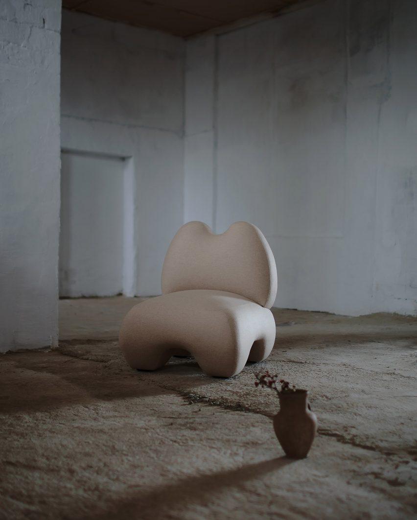 Faina's Domna armchair echoes the form of ancient goddess sculptures