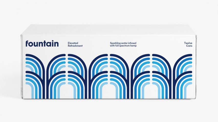 Fountain branding by Pentagram
