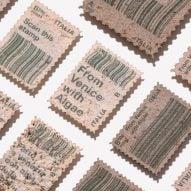 Pablo Dorigo Sempere turns Venice canal algae into postage stamps