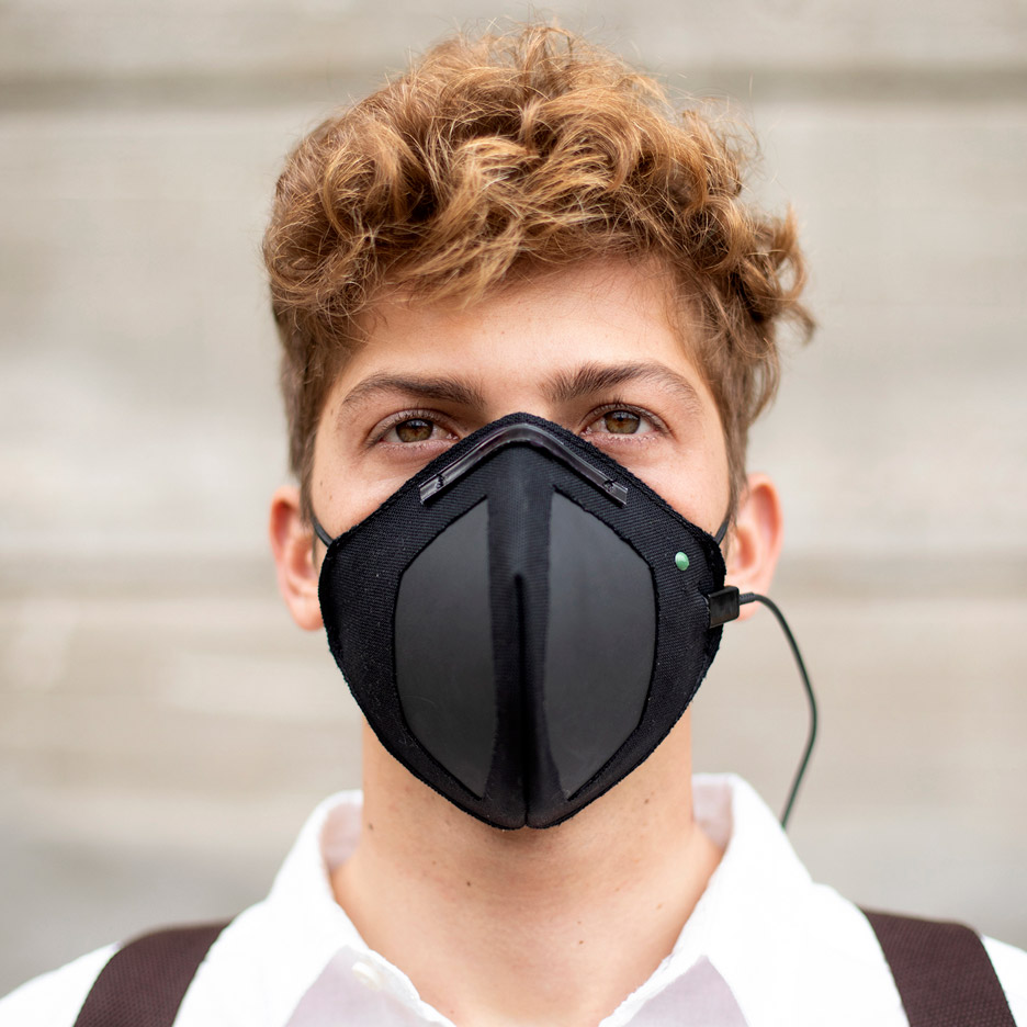 Guardian G-Volt masks use graphene and electrical charge to repel viruses