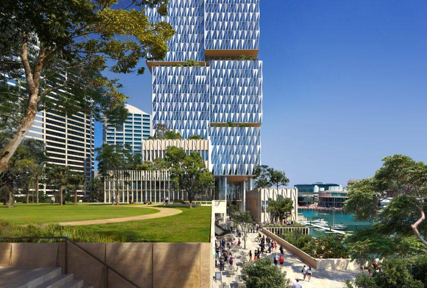 Cockle Bay Park by Henning Larsen for Sydney, Australia