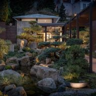 Garden with bonsai trees lies at heart of Seattle residence by Stuart Silk Architects