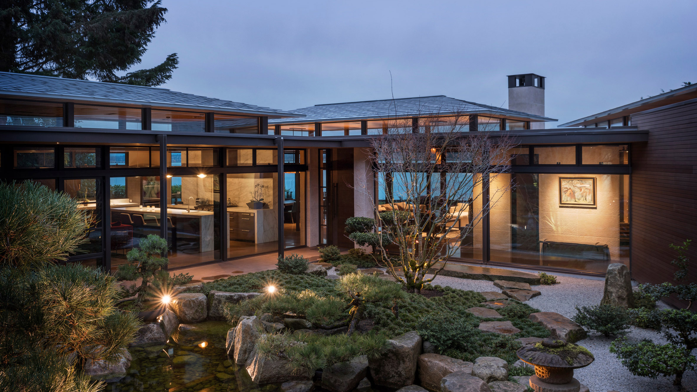 Japanese Garden Lies At Heart Of Seattle Residence By Stuart Silk Architects