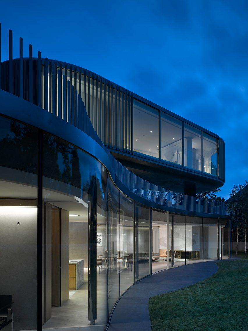 House in Coombe Park by Eldridge London night