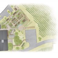 House of Flowers winery by Walker Warner Architects Site Plan