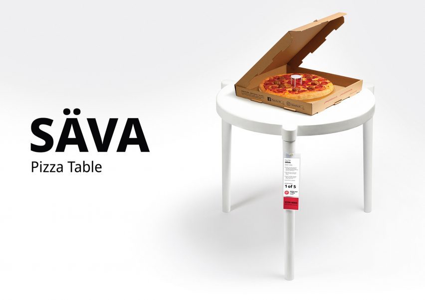 Sava table by IKEA x Pizza Hut