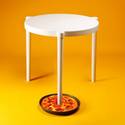 Sava table by IKEA x Pizza Hut