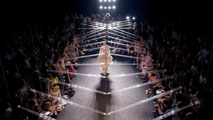 Iris van Herpen's runway collaboration with Studio Drift