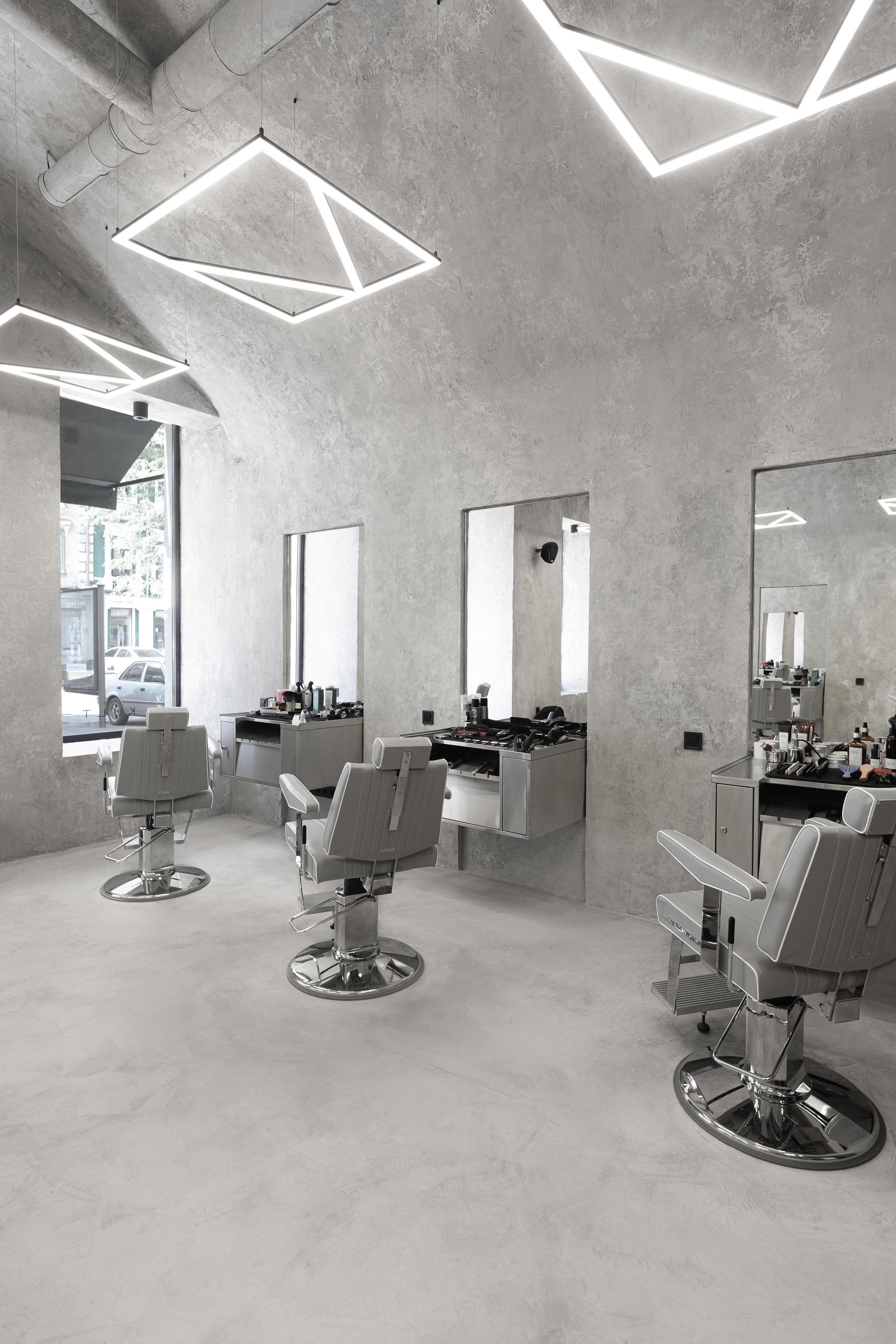 Kult barbershop in Ukraine, designed by Sivak & Partners