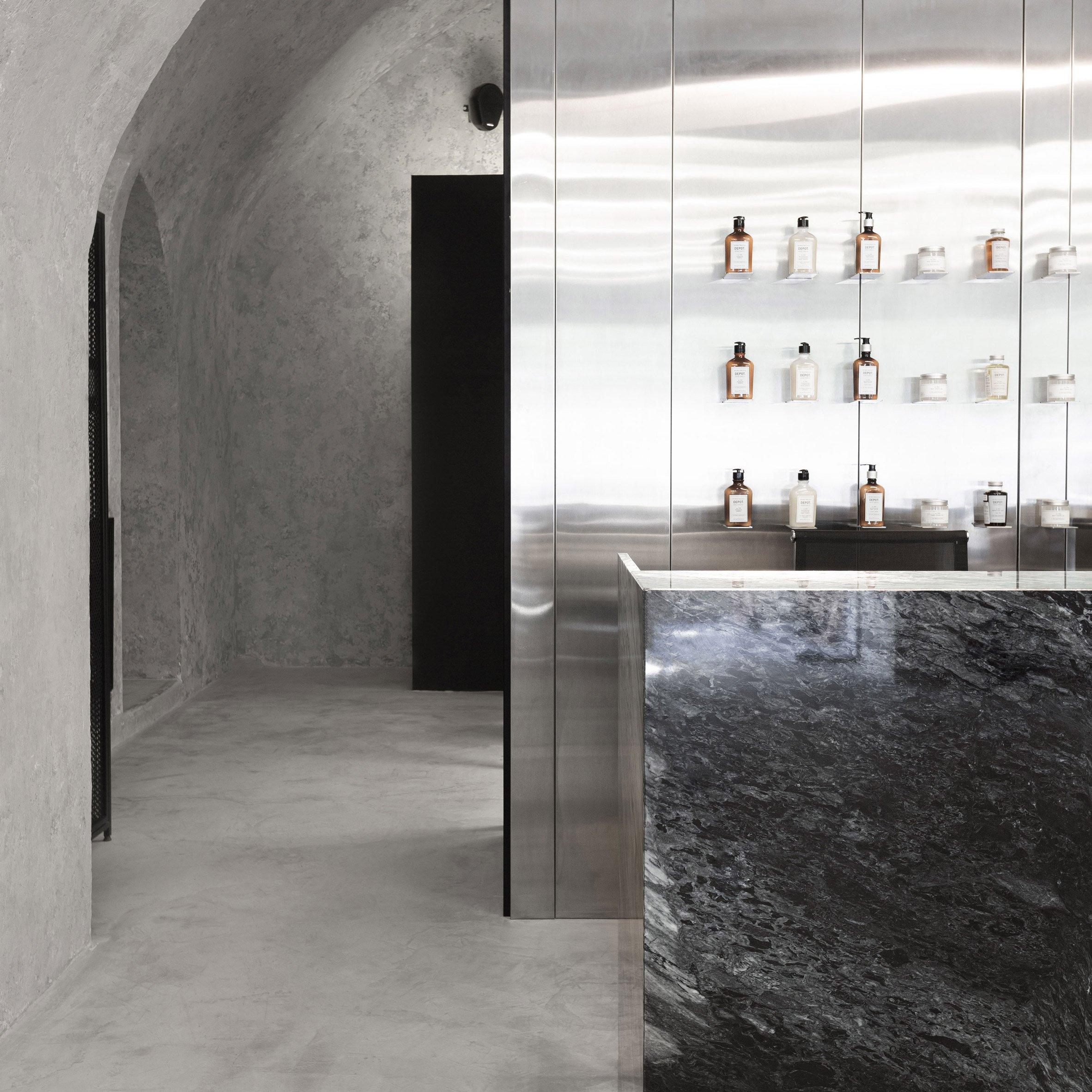 Sivak Partners Creates Greyscale Interiors For Kult Barbershop