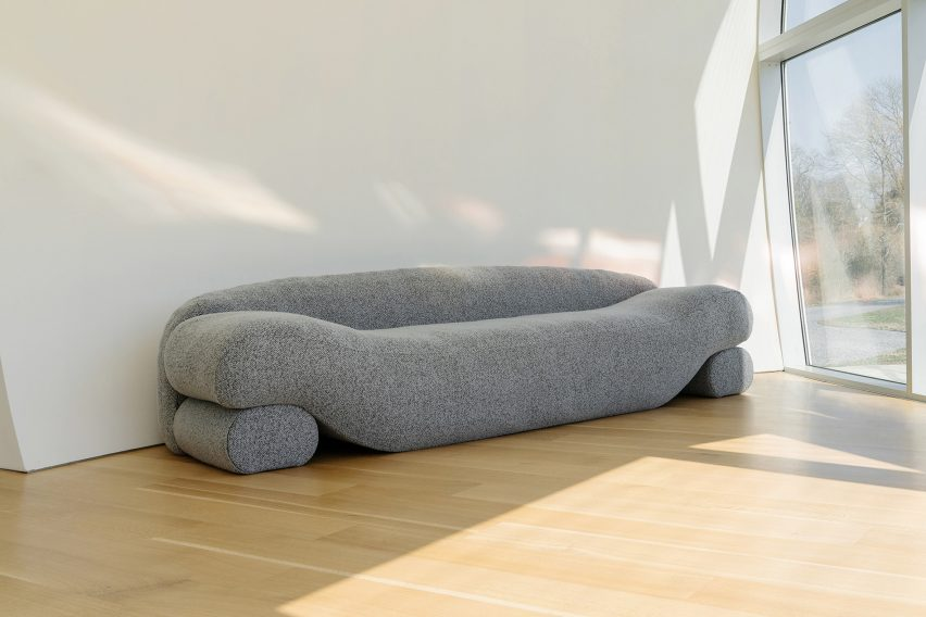 Latex-filled Beanie sofa by Nina Edwards Anker