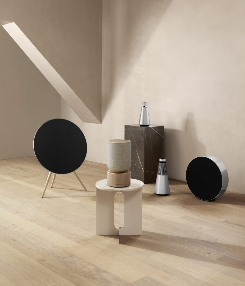 "Layer designs Bang & Olufsen speaker that ""visually describes how the audio functions"""