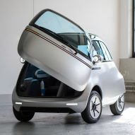 Micro unveils electric bubble car and three-wheeled e-scooter