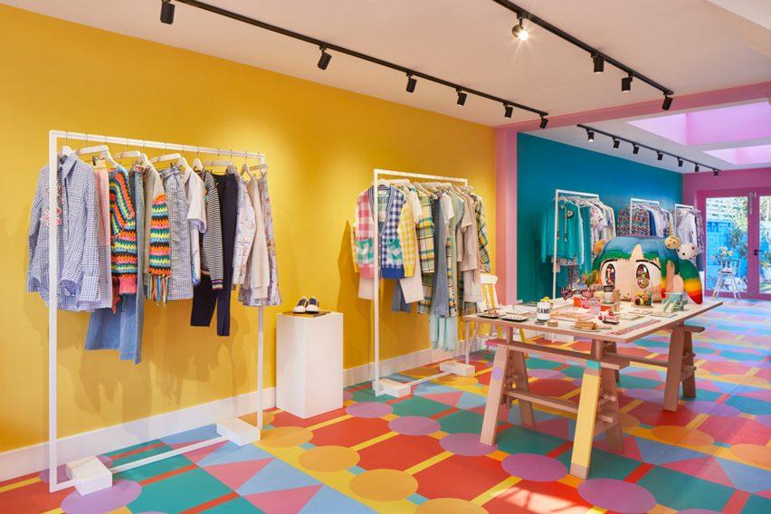Mira Mikati store designed by Yinka Ilori
