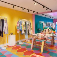 Yinka Ilori applies joyful hues to London's Mira Mikati store