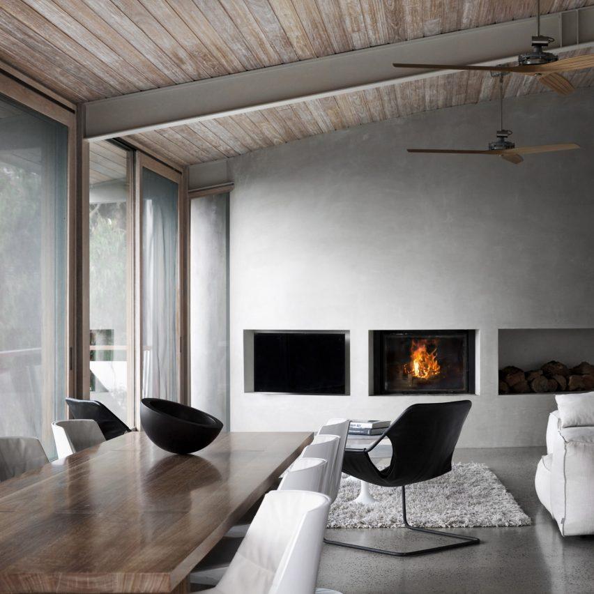 Ocean House is an Australian beach house with a minimal interior