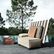 Philippe Starck outdoor furniture folds in half to ward off rain